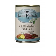 LandFleisch Wet Dog 400gr Beef heart & rice with organic vegetables