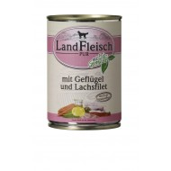 LandFleisch Wet Dog 400gr Poultry & Salmon fillet with organic vegetables