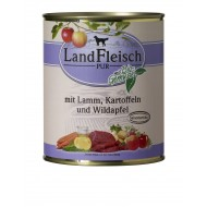 LandFleisch Wet Dog 400gr Beef heart, rice & wild apple with organic vegetables