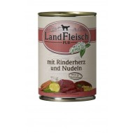 LandFleisch Wet Dog 400gr Beef heart and pasta with organic vegetables